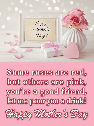 Pour You A Drink Happy Mother S Day Card For Friend Birthday Greeting Cards By Davia Happy Mother S Day Calligraphy Happy Mother S Day Card Happy Mother S Day