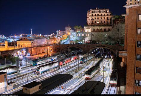 RailPictures.Net Photo: 2444 018-2 Trenitalia E444R at Genova, Italy by Károly Szélig