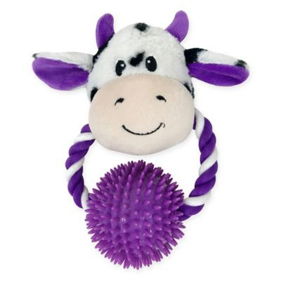 Bounce Pounce Cow Door Knocker Dog Toy In Purple Dog Toys Dog