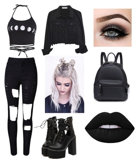 Designer Clothes, Shoes & Bags for Women Cute Emo Outfits, Bad Girl Outfits, Really Cute Outfits, Komplette Outfits, Teenage Outfits, Fandom Outfits, Gothic Outfits, Teen Fashion Outfits, Retro Outfits