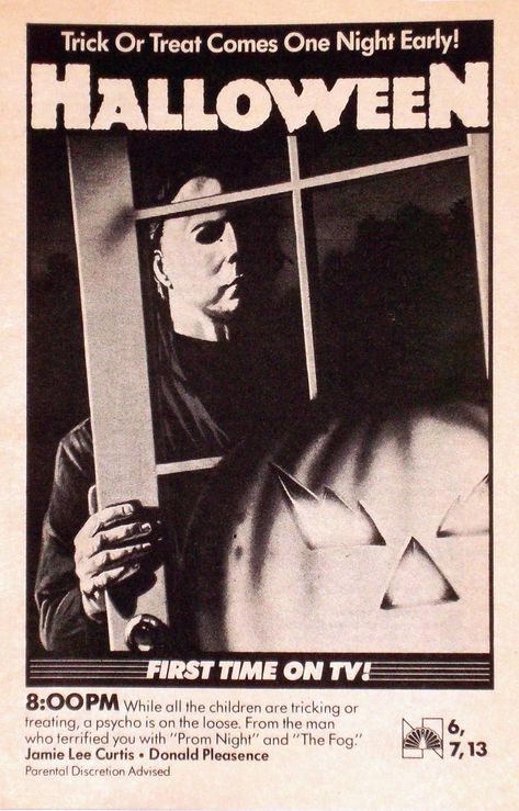 Details about HALLOWEEN Movie Poster Horror Michael Myers TV Ad