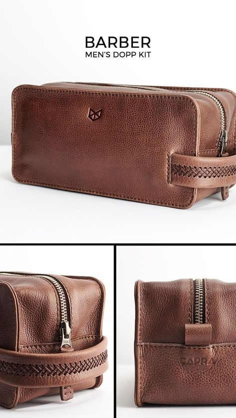 565afa8ab2bd A Dopp kit is both a statement of personal style and an immensely practical  item. It contains the tools one uses to transform from a shuffling, ...