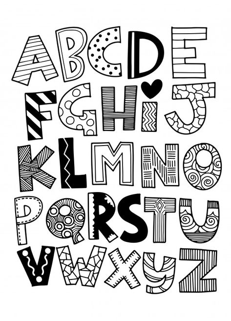 Hand drawn capital cartoon English alphabet with capital letters - Alphabet and FONT - Vector funny comics font. Hand drawn capital cartoon English alphabet with capital letters - Alphabet Drawing, Hand Lettering Alphabet, Doodle Lettering, Creative Lettering, Doodle Alphabet, Abc Alphabet, Cute Fonts Alphabet, Doodle Fonts, Drawing Letters