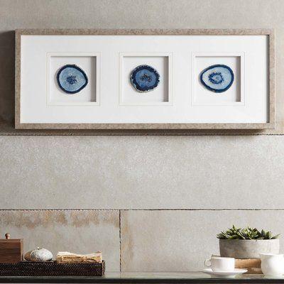 Willa Arlo Interiors Agate Stone Framed Graphic Art Stone Wall Art Framed Wall Art Glass Wall Art