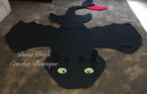 e7c80f115a Dragon Blanket Pattern! Toothless inspired crochet blanket