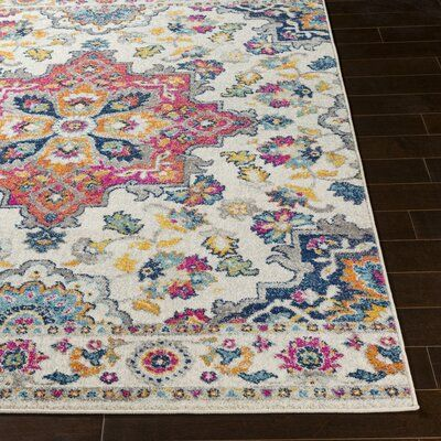 Bungalow Rose Almonte Bright Pink Area Rug Area Rugs Rugs