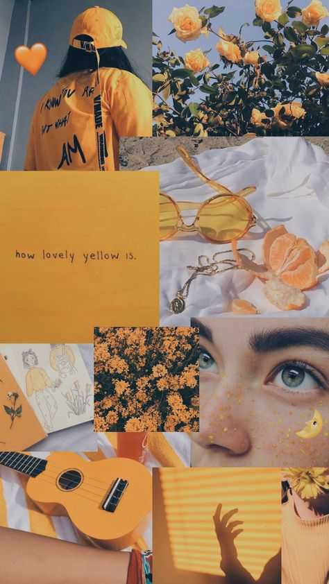 Wallpaper Yellow Aesthetic Collage 57 Ideas