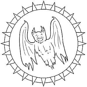 Mandala Fledermaus Oder Vampir Bordado Livre Bordado