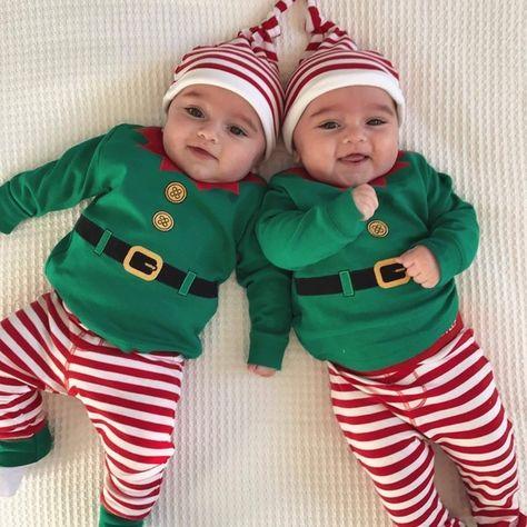 Kewlent Christma Outfit Baby Boy Elf Clothes Santa Claus Pajama
