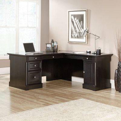 Three Posts Walworth L Shape Executive Desk L Shaped Executive