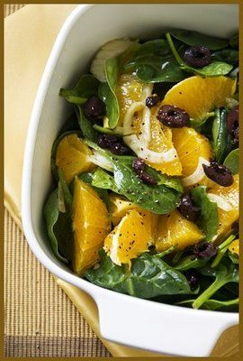 Orange and Fennel Greek salad. 1WWP