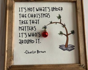Charlie Brown Christmas – Charlie Brown Tree – Charlie Brown Quote – Canvas Art – Christmas decoration – Christmas Gift - Everything About Christmas Christmas Signs, Country Christmas, Christmas Balls, Diy Christmas Gifts, Christmas Projects, Winter Christmas, Christmas Time, Christmas Wreaths, Christmas Ornaments