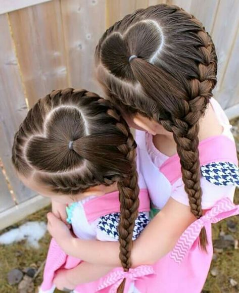 Cute Heart And Braid Valentines Hairstyles Valentine Hair
