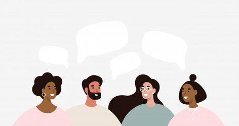 Group of people discuss social media new... | Premium Vector #Freepik #vector #banner #business #people #man