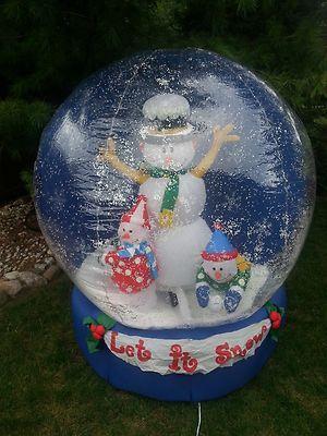 Gemmy Christmas Snow Globe Airblown Inflatable 6 Feet | eBay