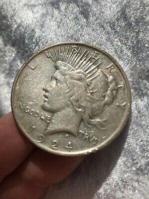 1924 90 Silver Liberty Peace Dollar Philadelphia Mint 1 Coin No Reserve Ebay Rare Coins Silver Dollar Coin Peace Dollar