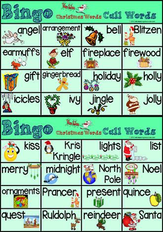 Christmas Words A Z.Pin On Class