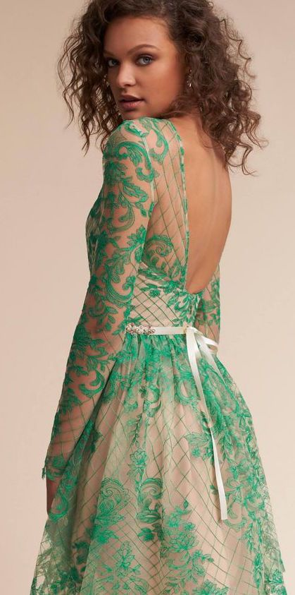 Beautiful green lace dress