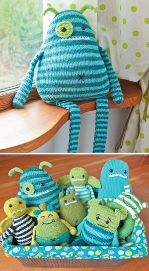 Knit a Monster - no free patterns, but cute inspiration