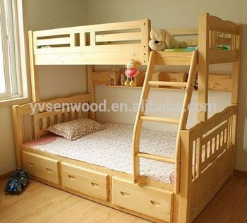 Double Deck Bed For Kids Wooden Bed Modern Kids Double Deck Bed