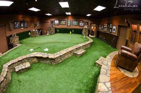 Very nice indoor putting green!
