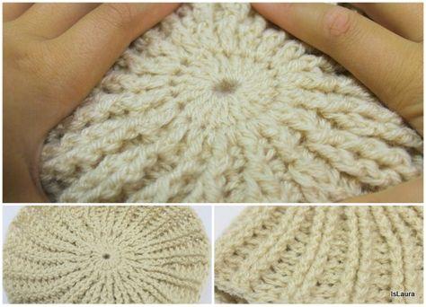 Step Crochet Da Punto Cappellino Con In Rilievo Uomo Tutorial BrqEyWcnB