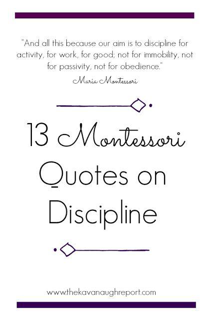 13 Montessori Quotes on Discipline