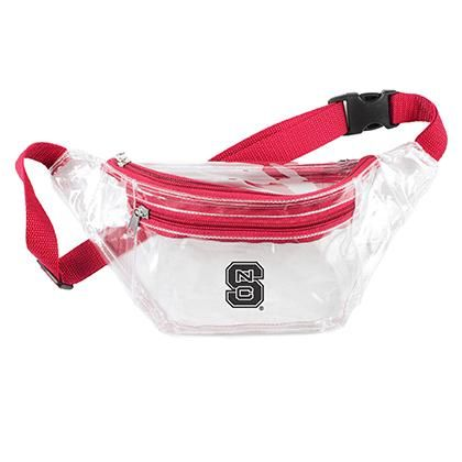 Desden Open Top Stadium Tote Clear with Long Handles for NC State Wolfpack Fans.