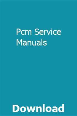 Pcm Service Manuals Chilton Repair Manual Molecular Geometry Music Practice