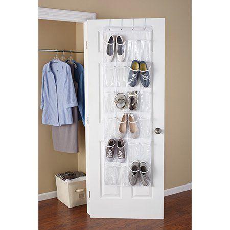 Buy Mainstays 24 Pocket Shoe Organizer White At Walmart Com Shoe