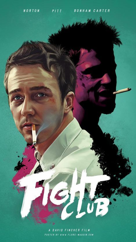 Fight-Club-Movie-Poster-Brad-Pitt-Wallpaper - iPhone Wallpapers