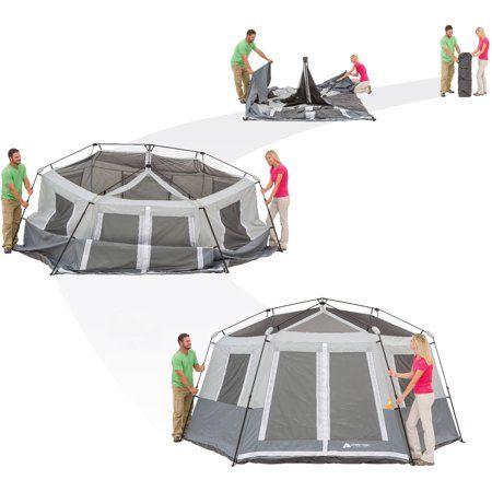 Ozark Trail 8 Person Instant Hexagon Cabin Tent Walmart Com Tent Cabin Tent Instant Tent