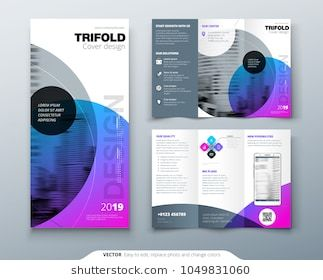 Tri Fold Brochure Design Purple Corporate Business Template For Tri Fold Flyer Layout With Mod Trifold Brochure Design Brochure Design Layout Brochure Design