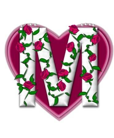 The Letter M In The Alphabet Set Rosey Vine Is A White Letter Lettering Alphabet White Letters