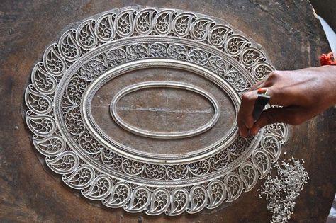7 Silver Filigree - Karimnagar ideas | silver filigree, filigree, silver