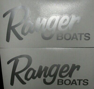 Details About 2x Ranger Boats 8 Silver Decals Stickers For