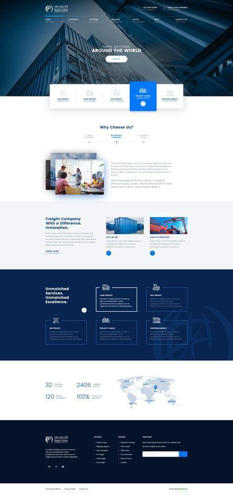 다음 Behance 프로젝트 확인 U201cocean Crownu201d Www Behance Net Website Design Website Design Clean Web Design Corporate Website Design Web Design Websites