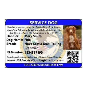 Federal Service Dog Registration Emotional Support Dog Registration Service Dog Registration Emotional Support Dog Service Dogs