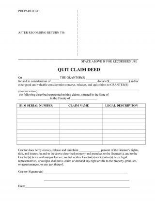 Quit Claim Deed Form Free Warranty Deed To Trustee Printable Real