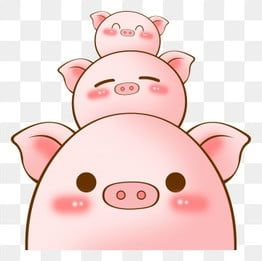 Cute Pig Family Welcomes The Pig Year Cartoon Hand Drawn Style 2019 Cartoon Hand Drawn New Year Poster Year Of The Pig Png Transparent Clipart Image And Psd In 2021