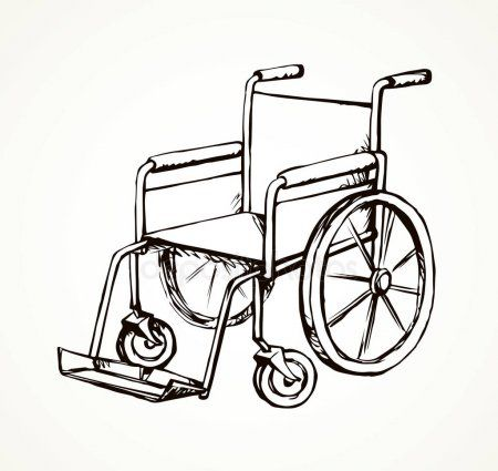 Wheelchair Vector Drawing Stock Vector Ad Vector Wheelchair Stock Drawing Ad In 2020 Vector Drawing Wheelchair Drawings