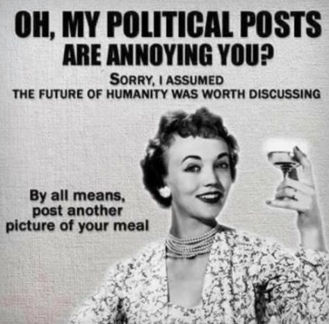 My political opinions are annoying you??? - Sarah Wilson