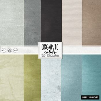 Organic Solid Digital Papers Lightly Textured Card Stock