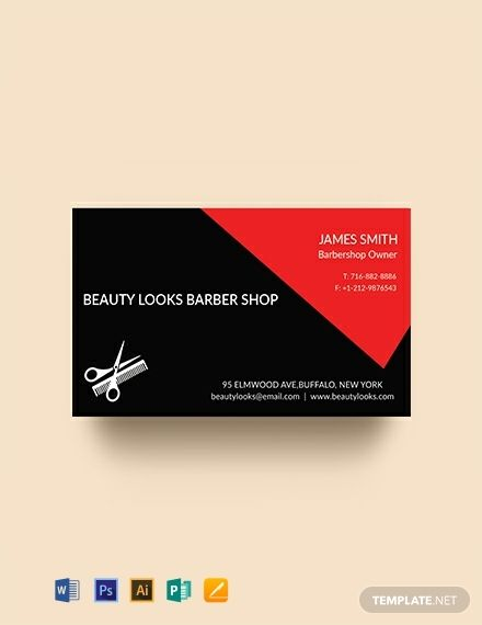 Free Barbershop Business Card Template Word Doc Psd Apple Mac Pages Illustrator Publisher Business Card Template Word Business Card Template Design Business Card Template