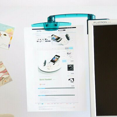Computer PC LCD Display Monitor Mount Document Holder Clip Bracket Paper Holder