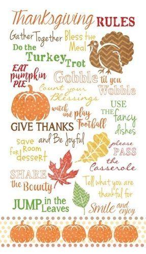 Thanksgiving Rules In 2020 Thanksgiving Art Thanksgiving Fun Thanksgiving Interactive