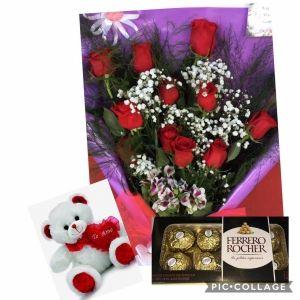1 D Ramo De 24 Rosas Rojas 011 4205 8128 Floristería Rosas Flores
