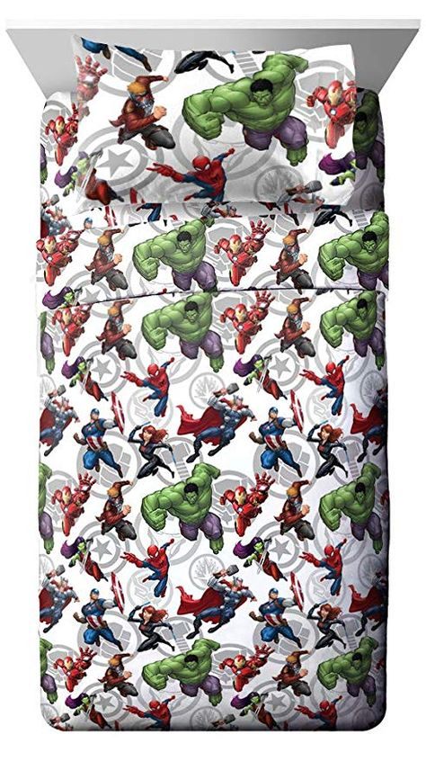f335b2c04c4b Jay Franco Marvel Avengers Team 5 Piece Full Bed Set - Includes Reversible  Comforter   Sheet Set - Super Soft Fade Resistant Polyester - (Official  Marvel ...