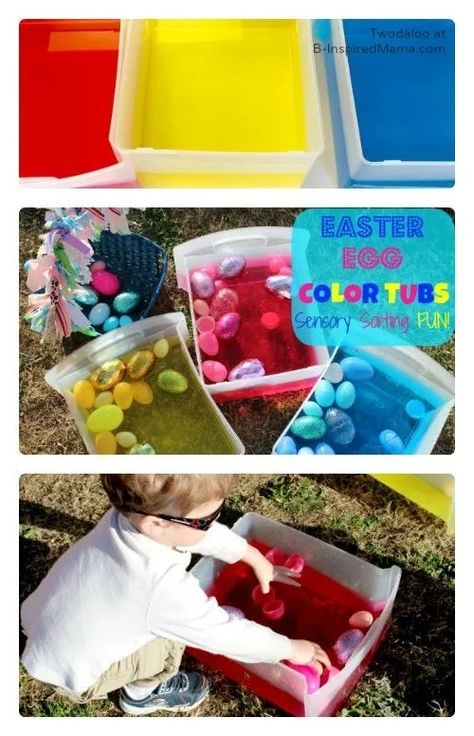 Easter Egg Color Sorting Sensory Fun at B-Inspired Mama