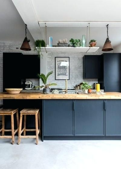 Google Image Result For Http Dekoros Info Wp Content Uploads 2018 11 Green Kitchen Ca Industrial Style Kitchen Concrete Kitchen Floor Interior Design Kitchen